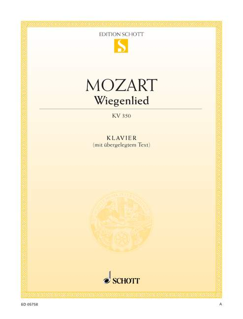 with Text Wiegenlied KV 350 Mozart 9790001088893 Wolfgang Amadeus piano